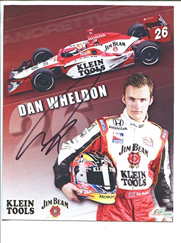 DAN WHELDON-INDY CAR #26-AUTOGRAPHED HERO/FAN CARD-2005-8 X10-vg -