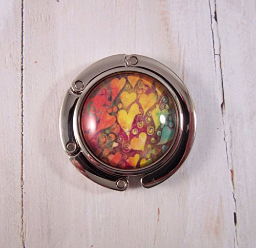 Rainbow Reggae Hearts Purse Hook or Handbag Hanger