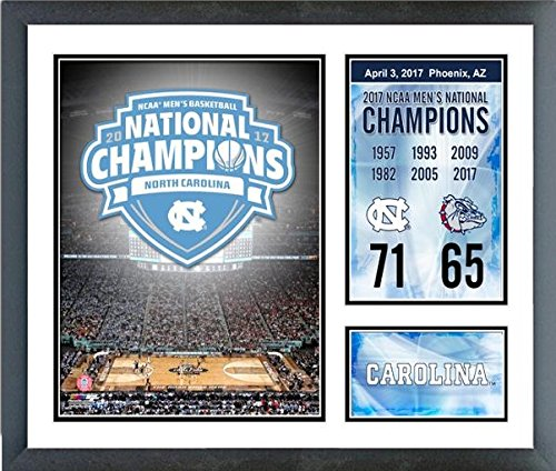 North Carolina Tar Heels 2017 NCAA National Champions 11 x 14 Custom Matted Photo Collage (Size: 12.5