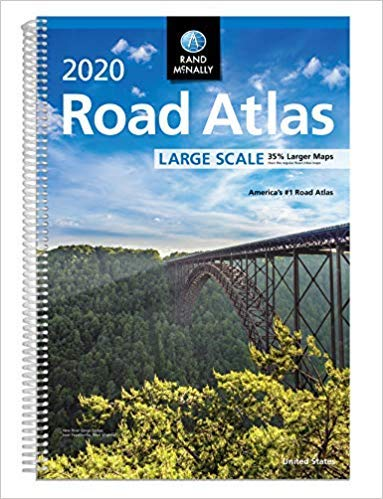 [By Rand McNally] Rand McNally 2020 Large Scale Road Atlas (Rand McNally Large Scale Road Atlas USA) [2019] [Sprial-bound] New Launch Best selling book in |United States Atlases & Maps (Books)| ()