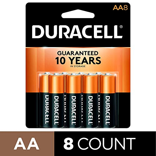 Duracell – CopperTop AA Alkaline Batteries – long lasting, all-purpose Double A battery for household and business – 8 Count