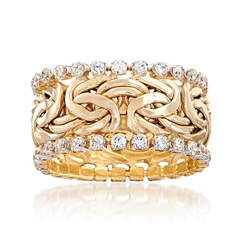 Ross-Simons 1.25 ct. t.w. CZ Byzantine Eternity Band in 14kt Yellow Gold ()