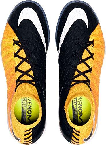 Nike Menns Hypervenomx Proximo Ii Dynamiske Fit Innendørs Fotballsko Oss) Laser Orange / Svart