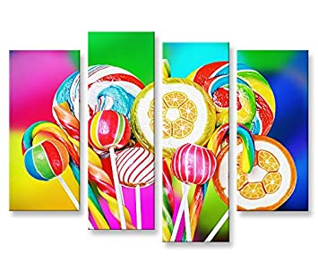 Quadro moderno Lollipop lavabo Colourful La caramelo ...