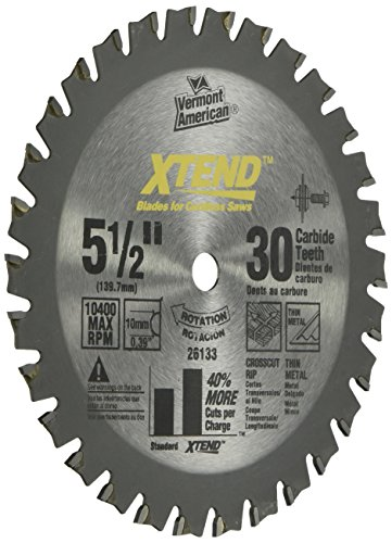 Vermont American 26133 10mm Arbor 5-1/2-Inch 30 Tooth Xtend Fine (10 Tpi Fine Finish)