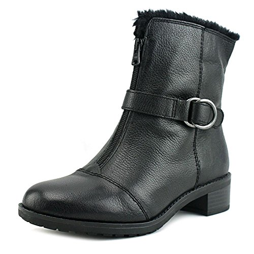 Naturalizer Mid Leather Madera Leather Toe Black Calf Closed Womens rXnZOvr