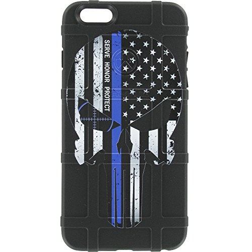 EGO Tactical Limited Edition Design UV-Printed onto a MAG849 Field Case Compatible with Apple iPhone 7 + Plus, 8 + Plus, 7+, 8+ Serve Honor Protect, Thin Blue Line Punisher