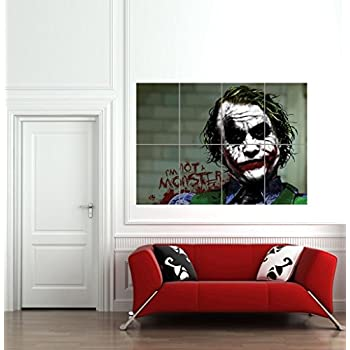 Amazon.com: No Frame Starry Night Joker Abstract Oil