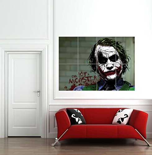 BATMAN JOKER IM NOT A MONSTER CULT CLASSIC MOVIE FILM COMIC BOOK GIANT WALL POSTER ART PRINT B1062