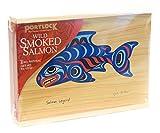 Portlock Wild Smoked Salmon in Wood Gift Box, 8 Ounces