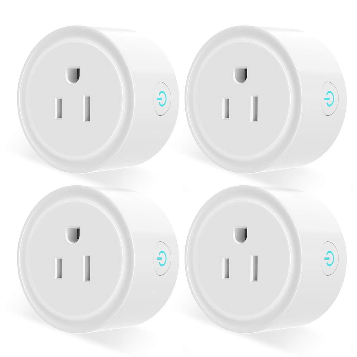 Smart Plug, Aoycocr Wifi Socket Outlet Compatible with Alexa, Google Home and IFTTT, Remote Control, No Hub Required, with Timer Function(4-Pack)