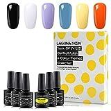 """Beauty : Lagunamoon Gel Nail Polish Set,Halloween Theme""""Trick or Treat"""" Soak Off UV LED Nail Gel Kit 8ml"""