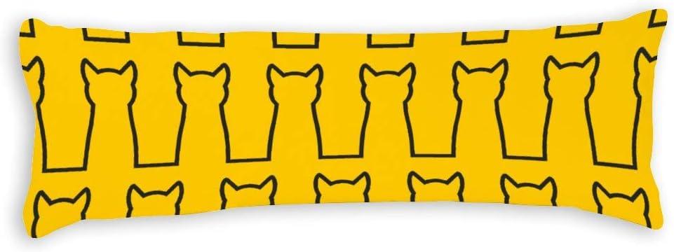 Fhdang Decor - Funda de almohada con forma de condón, 50 x 150 cm, algodón suave, lavable a máquina con cremalleras, funda de almohada de maternidad/embarazo