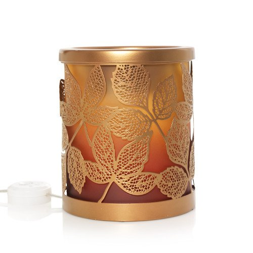 Yankee Candle Amber Leaves W/Led & Timer Scenterpiece Wax Warmer