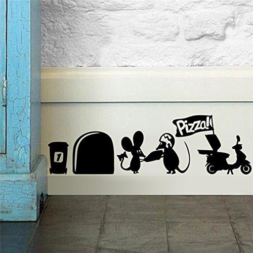 マウス穴壁ステッカー子供の部屋のデコレーション。DIYビニールホームデカールかわいい動物壁画3dアートポスター5.2 ^。   B01C93EX9Y