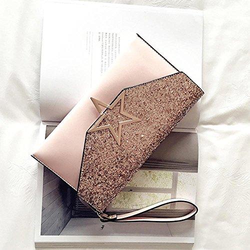 Aoligei Paillettes Mesdames main sac mode simple petit côté package version coréenne de l'unique oblique croisée femelle sac B