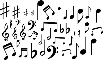 BIG SIZES //317 Music Notes Art Craft Reusable Stencil Decor Size A 5 4 3