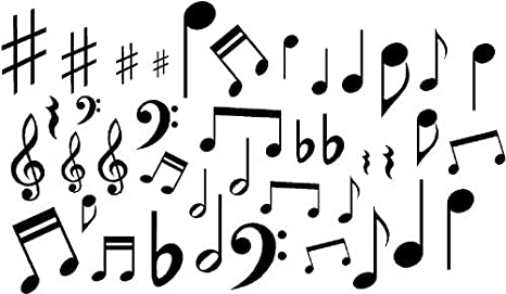 Music Notes Vinyl Wall Decal Stickers Lot Of 40 Notes Home Decor Made By G B Vinyl Decals Do Not Copy