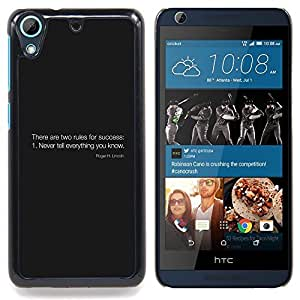 For HTC Desire 626 & 626s - Rules Of Success /Modelo de la piel protectora de la cubierta del caso/ - Super Marley Shop -