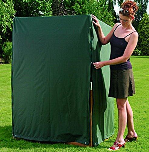 Strandkorb Schutzhülle atmungsaktiv für 2 Sitzer XL, grün, winterfest, L 150 x B 110 x H 156 / 135 cm