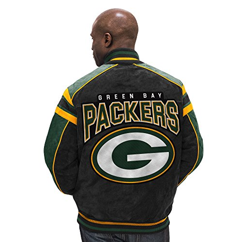 G-III Sports Green Bay Packers Leather Legend Suede Jacket - Bay Leather Jacket