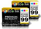 ECO INK © Compatible / Remanufactured for HP 99 C9369WN (2 Photo Color) Ink Cartridges for HP PhotoSmart 2570, 2575, 2610, 2710, 3125, 3135, 3140, 3150, 3170, 3173, 7850, 8050, 8150, 8450, 8450xi, 8750, 8753, 8758, B8350, C3100, C3175, C3180, C3183, C3188