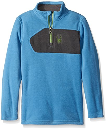 (Spyder Boy's Speed T-Shirt, French Blue/Polar, Small)