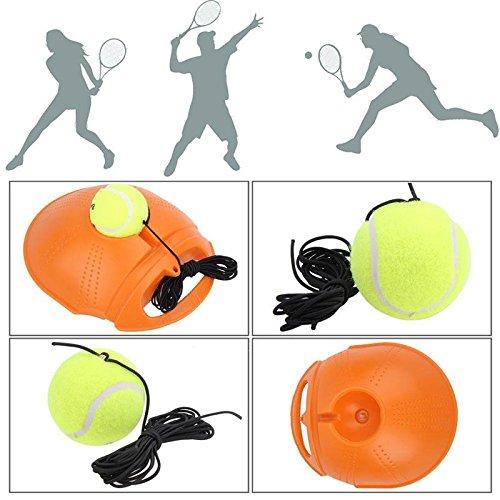 FidgetFidget Balls for Tennis Ball Single self-Training Practice Back Base Trainer Tool w/Tennis