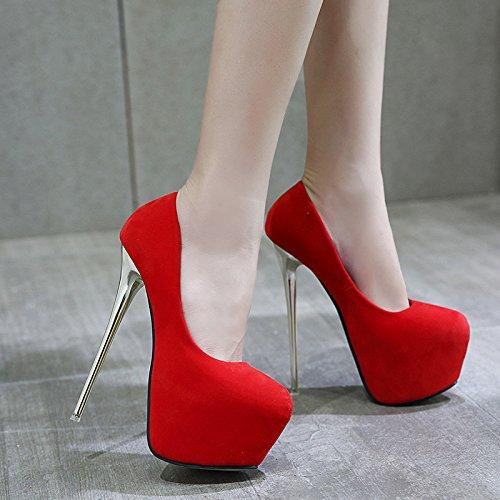 De Plated Finas Alto Y Americanos Zapatos Viento HGTYU Ultra Boda Tacón El De Con Nuevo Europeos Y Red 16Cm vn8awZ