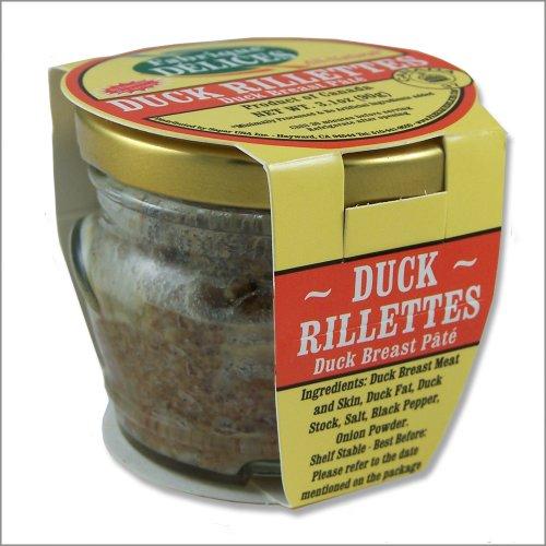 Duck Rillettes Perigord Style - Duck Breast Pate - 2.8oz - Pork-Free - The Set of 6 Jars