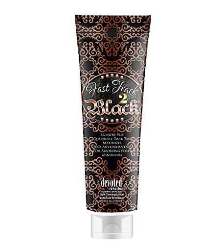 Devoted Creations Fast Track 2 Black Dark Tan Maximizer Tanning Lotion 8.5 Ounce by Devoted Creations