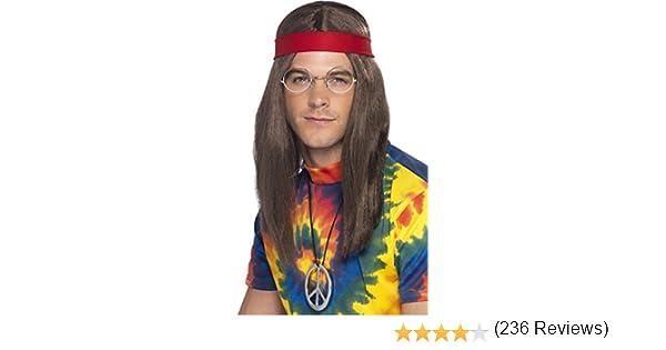 Smiffys Smiffys-21337 Hippies Kit de Hombre Hippy, Peluca, Gafas ...
