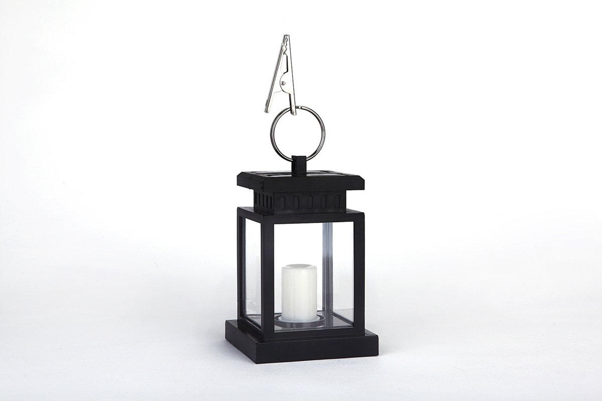 DSstyles Landscape Lawn Candle Light Hanging Lantern Lamp With Clip Solar Energy Powered Outdoor Home Garden Yard