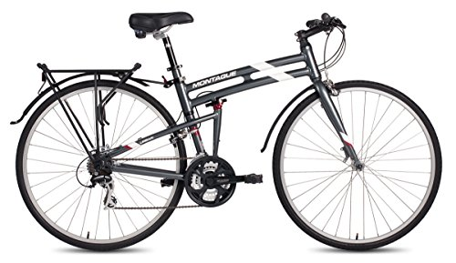 New Montague Urban Folding 700c Pavement Hybrid Bike Smoke Silver 19inch