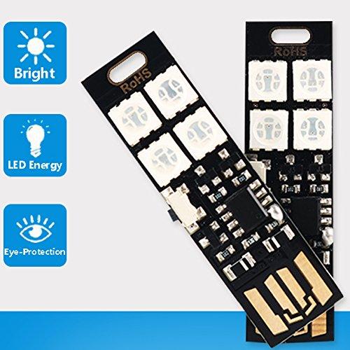Yitee Mini USB Lights 7-Color Changing Night Light 5050 RGB