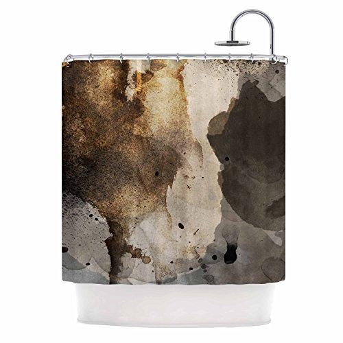 """KESS InHouse Li Zamperini """"Today"""" Beige Brown Shower Curtain, 69 by 70"""" from Kess InHouse"""