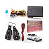 Eunavi Universal Car Vehicle Security Car Door Lock Keyless Entry System Remote Central Control Box Kit