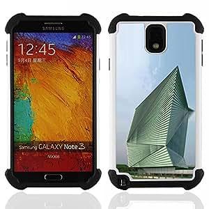 - Architecture Abstract Building/ H??brido 3in1 Deluxe Impreso duro Soft Alto Impacto caja de la armadura Defender - SHIMIN CAO - For Samsung Galaxy Note3 N9000 N9008V N9009