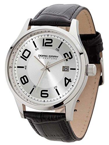 Jorg Gray JGS2570 - Wristwatch, Men, Leather, Color: Black