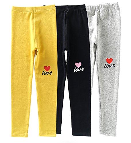 IRELIA Girls Leggings 3 Pack Cotton Novel Design Size 2-10 04 M by IRELIA