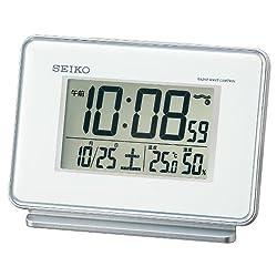 SEIKO CLOCK ( Seiko clock ) 2-channel alarm temperature and humidity radio digital alarm clock ( white ) SQ767W