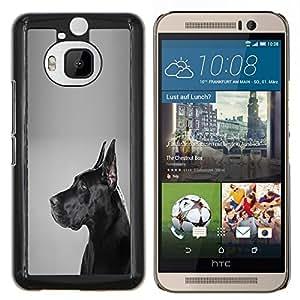 LECELL--Funda protectora / Cubierta / Piel For HTC One M9Plus M9+ M9 Plus -- Alemán Mastiff Negro Pelo Corto Perro --