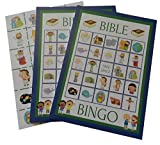 Bible Bingo Party Game for All Ages Great For Kids and Christian Families for 24 Players