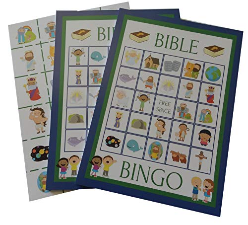 Bible Bingo Party Game for All Ages Great For Kids and Christian Families for 24 Players by Happy House Merchandise