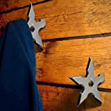 Ninja Darts Coat Hooks (Pack of 2) Clothes Hats Hanger Holder Novelty Present for Teens