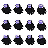 Gelante Children Winter Knitted Magic Gloves Wholesale Lot 12 Pairs
