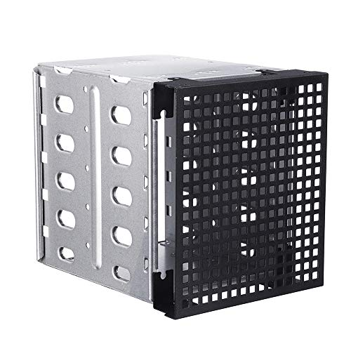 9OVE, HDD Hard Driver Rack, SATA SAS Cage Tray Caddy, 5 Slots 3.5inch with Fan Space ()