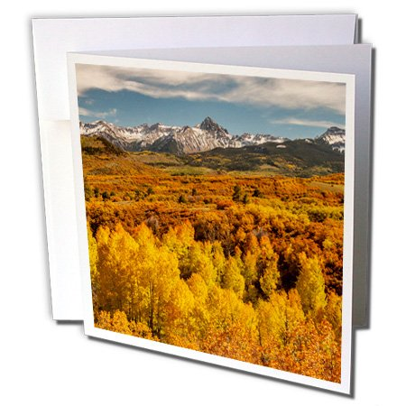 Price comparison product image 3dRose Greeting Cards, 6 x 6 Inches, Pack of 12, Colorado, Dallas Divide in San Juan Mountains. (gc_206053_2)