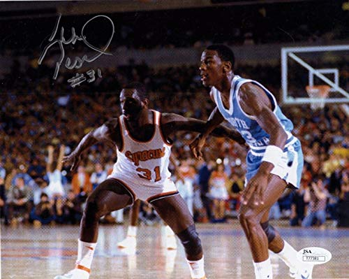Pearl Washington Signed Photo - 8x10 LEGEND+MICHAEL JORDAN - JSA Certified - Autographed College Photos