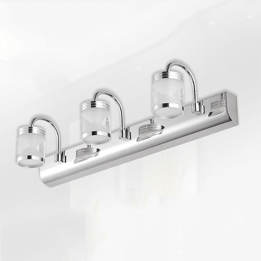 XRXY LEDモダンステンレススチールミラーフロントライトバスルームミラーキャビネットライトウォールランプメイクライト防水ミラーランプ ( 色 : 白色光 , サイズ さいず : 46センチメートル 46せんちめ゜とる ) B07CC4S7DG 12082 46センチメートル 46せんちめ゜とる|白色光 白色光 46センチメートル 46せんちめ゜とる
